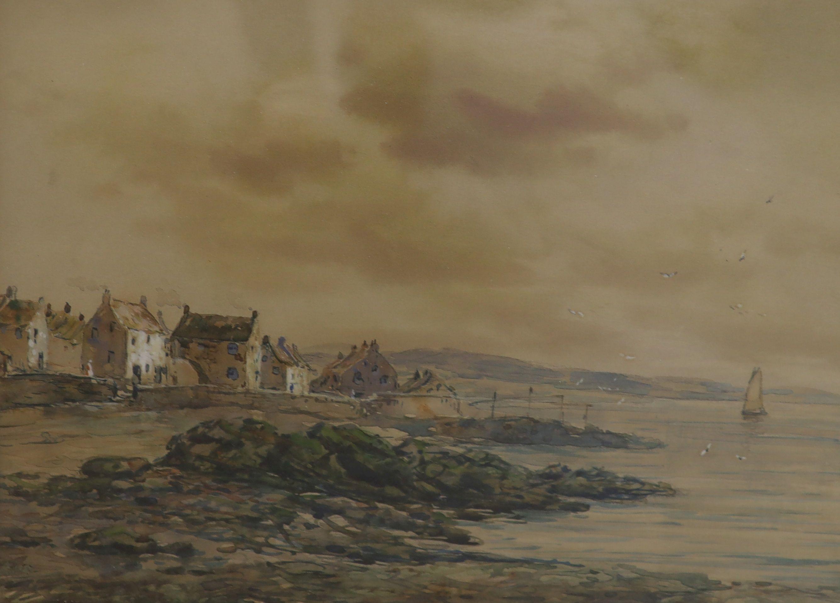 John Hamilton Glass (Exh. 1890-1925), watercolour, 'Pittenweem, Fifeshire', 29 x 36.5cm