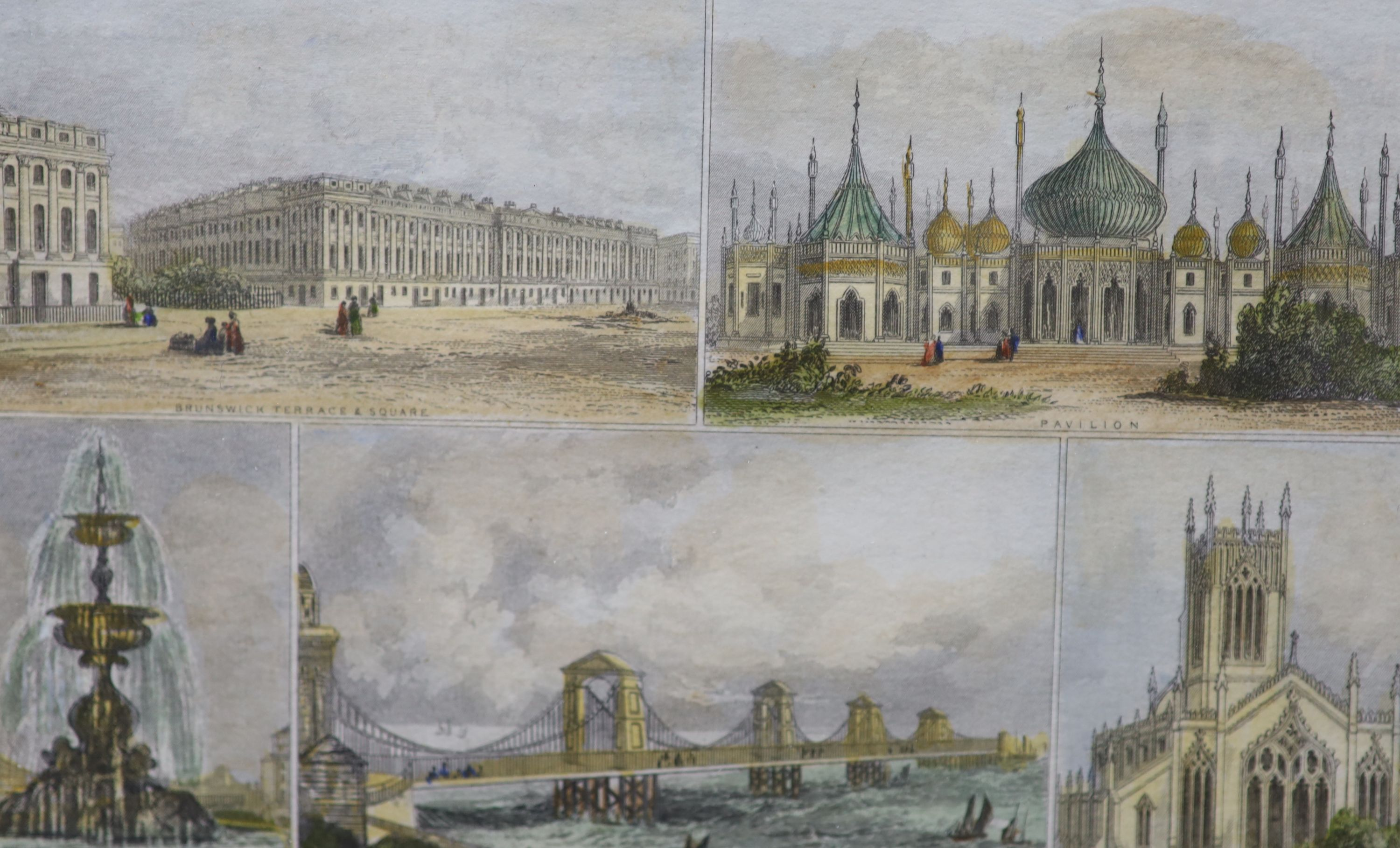 A collection of nineteen assorted 19th century Brighton related prints, largest 15 x 21cm - Image 6 of 6