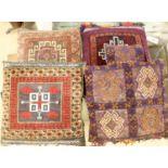 Four Kelim cushions