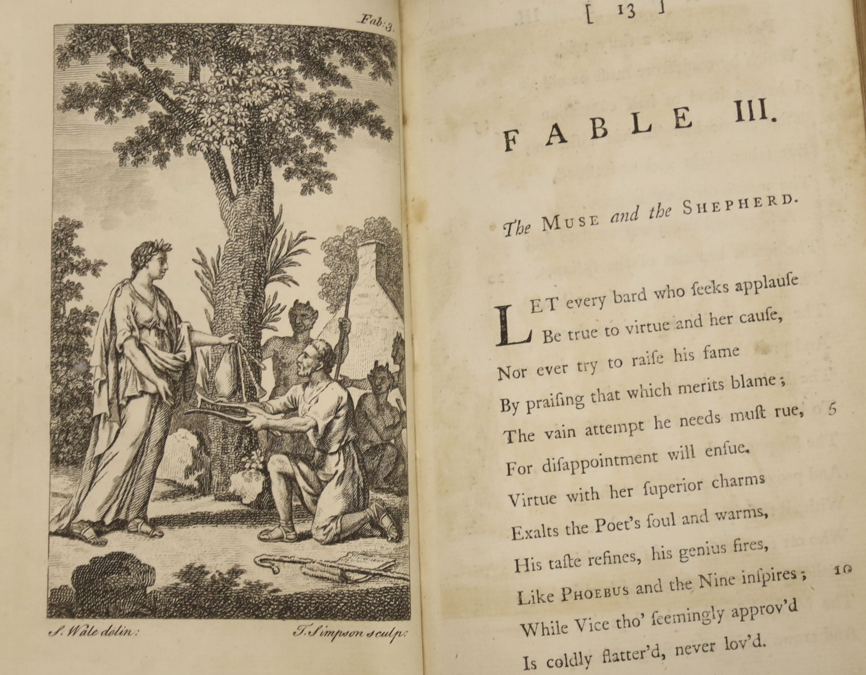 Wilkie, William - Fables, 8vo, calf, rebacked and re-cornered, with 18 engraved plates, Edward and - Image 5 of 5