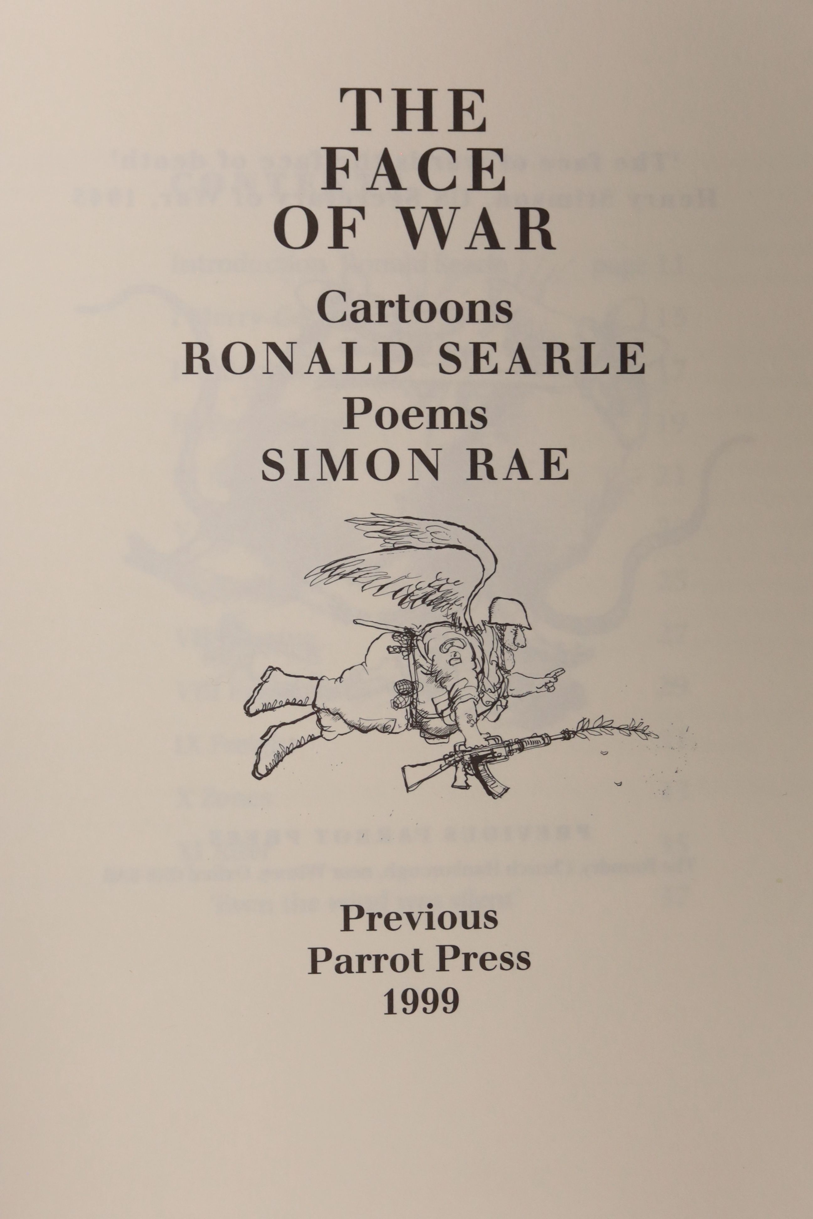 Rae, Simon & Searle, Roland, 'The Face of War', A signed limited edition numbered 103/294, - Image 3 of 10
