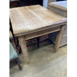 A small Victorian rectangular pine table, width 106cm, depth 76cm, height 74cm