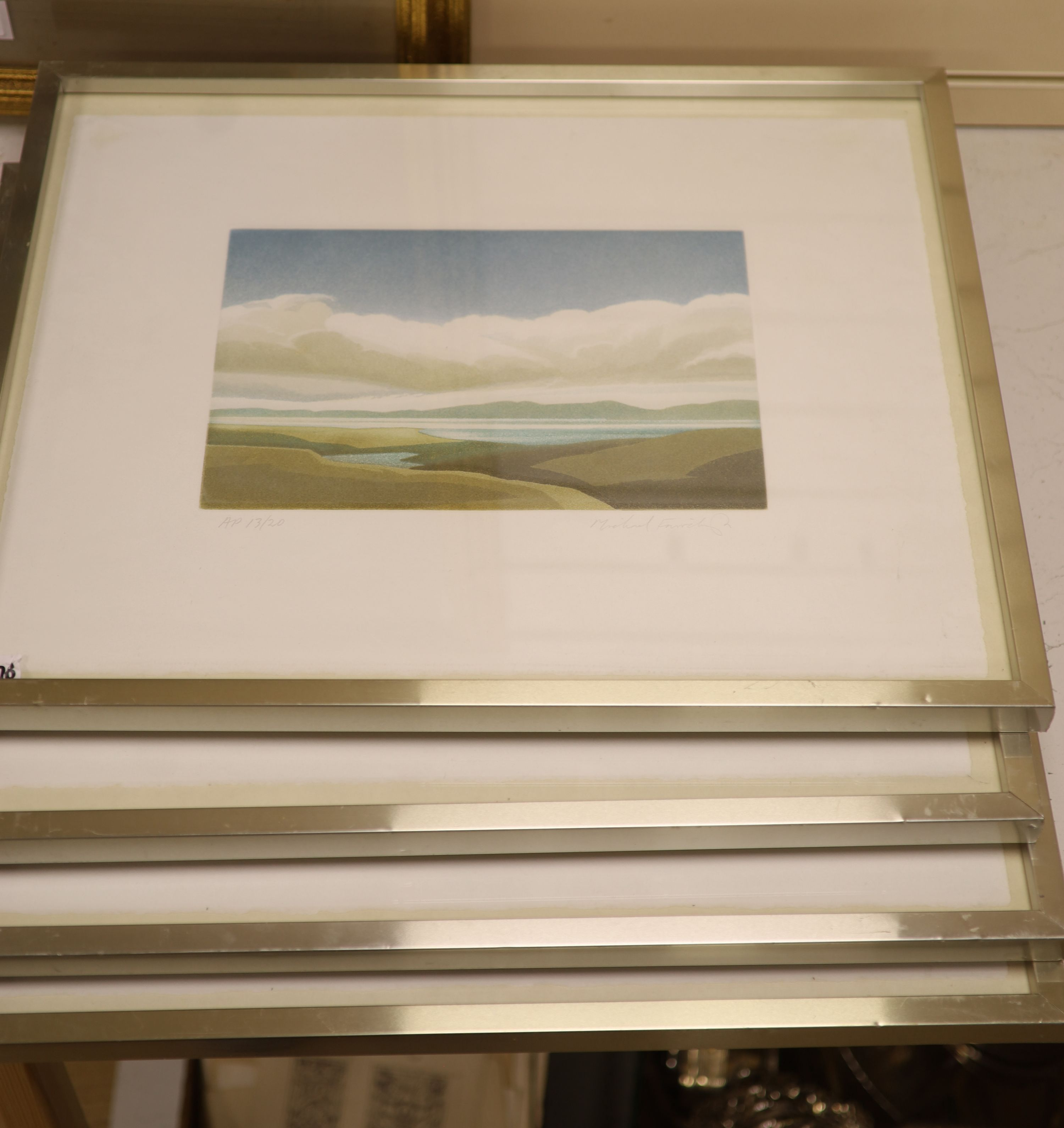 Michael Fairclough (b.1940), a set of four artist proof prints, The Hebredian Suite, signed in
