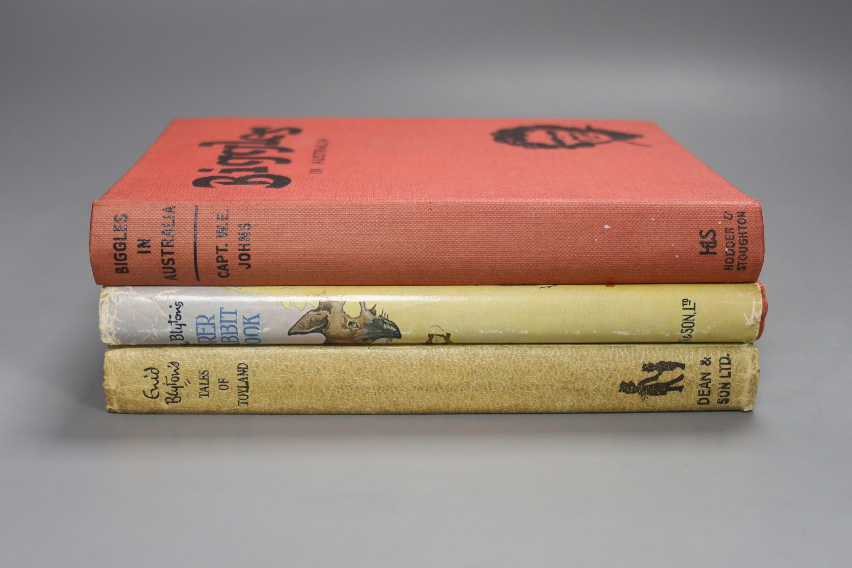 Johns, Capt W.W – Biggles In Australia, first edition, 16mo, hardback, (dj missing, spine sunned)