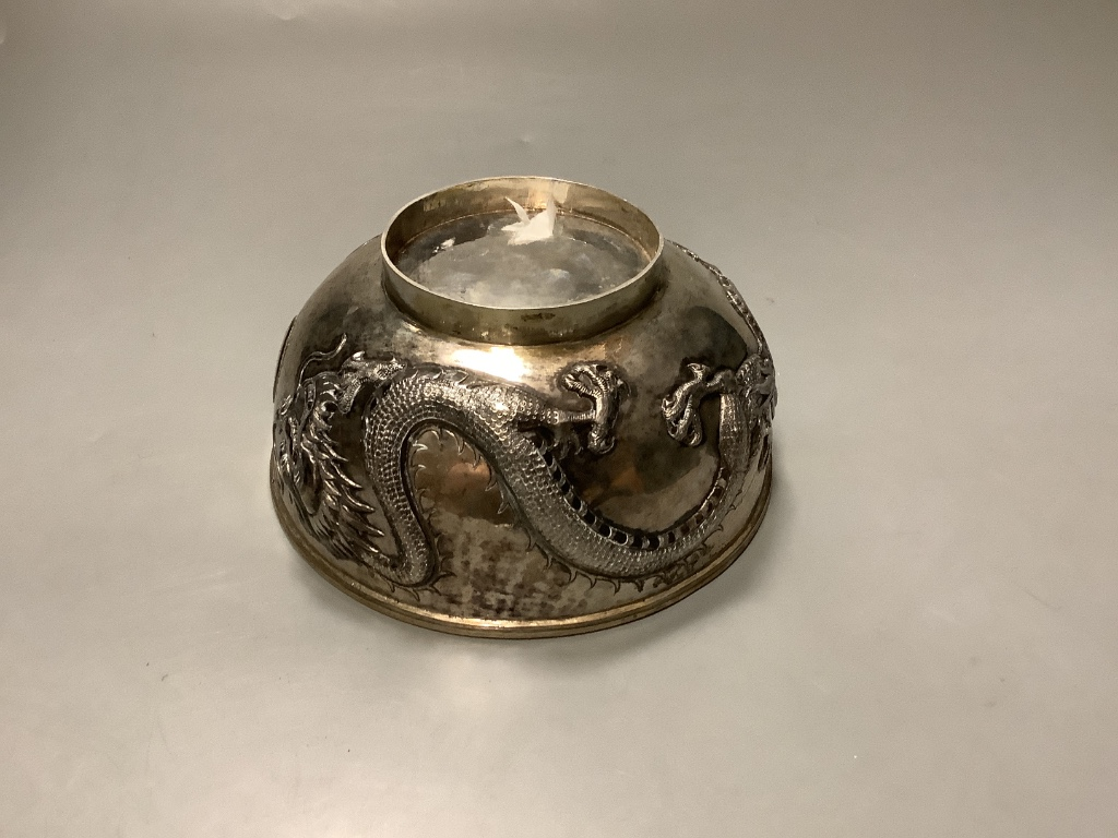 A late 19th/early 20th century Chinese Export bowl by Wang Hing, with engraved inscription and - Image 2 of 3
