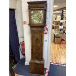 An 18th century thirty hour walnut longcase clock, William Monk, Berwick St John, height 188cmA
