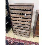 A vintage pine apple chest, width 67cm, depth 59cm, height 119cm