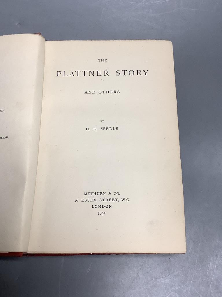 Wells, H.G. – The Plattner Story and Others, 1st edition, half title, publisher's 40pp. catalogue at - Image 2 of 2