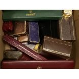 A small quantity of assorted jewellery and watch boxes including Rolex and Longines.