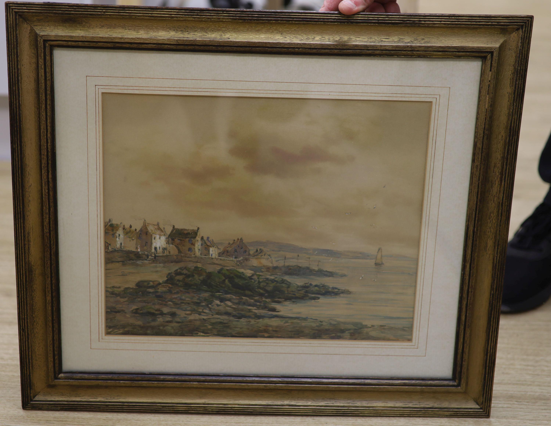 John Hamilton Glass (Exh. 1890-1925), watercolour, 'Pittenweem, Fifeshire', 29 x 36.5cm - Image 3 of 4