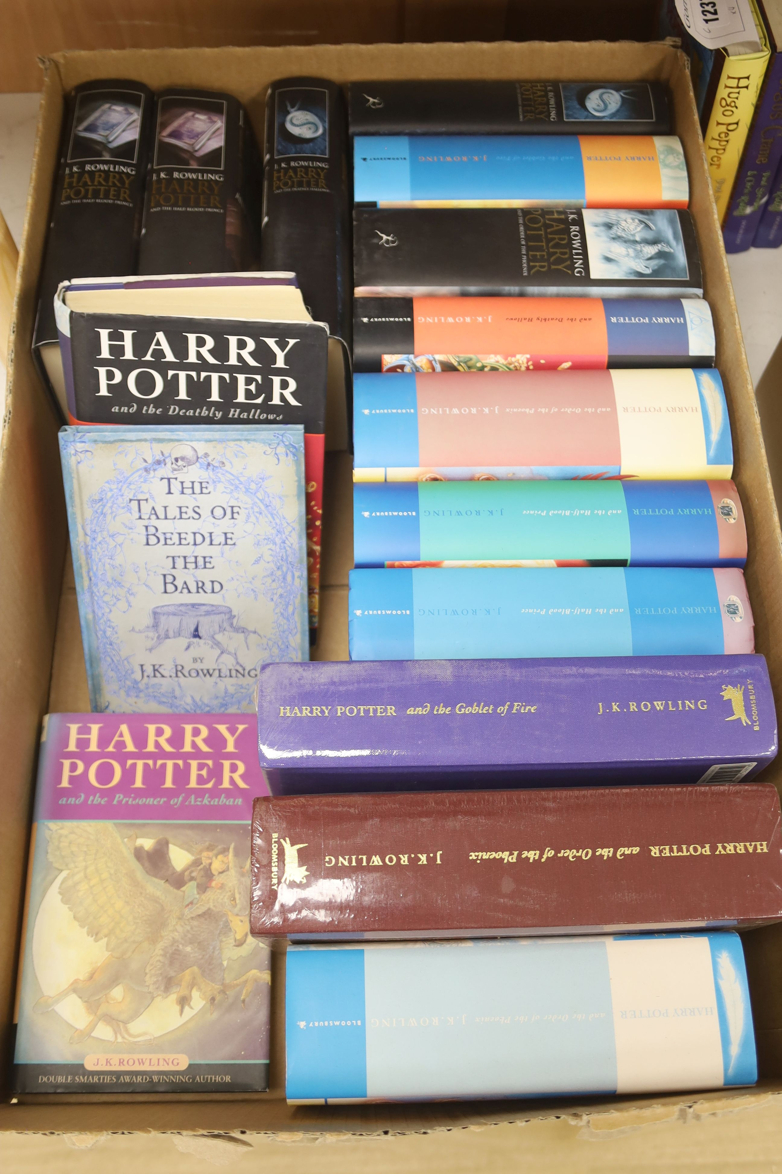 Rowling, J.K – A collection of Harry Potter editions:Prizoner of Azkaban, Bloomsbury 1999, second