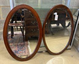 Two Edwardian mahogany inlaid Edwardian mirrors
