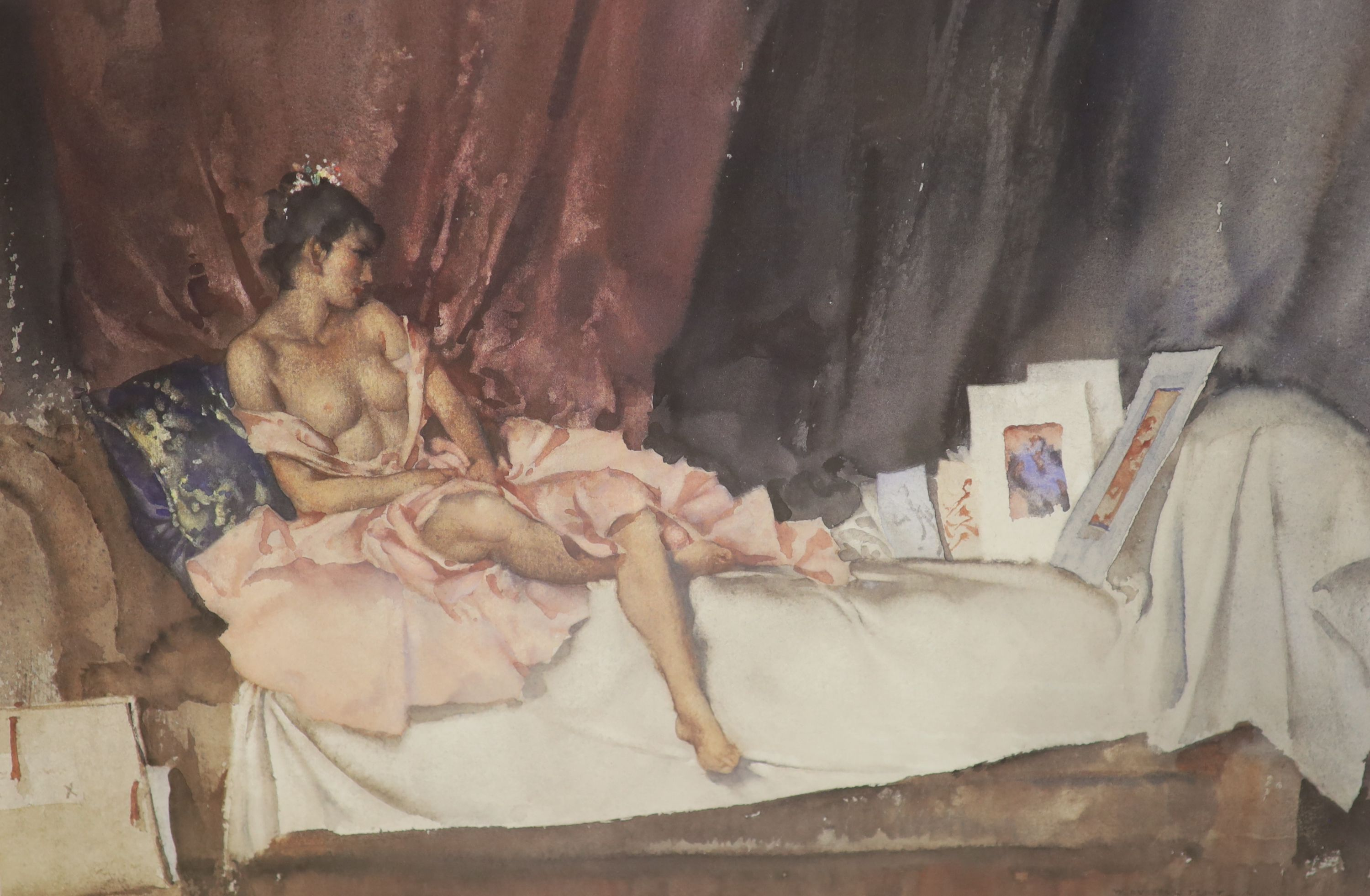 William Russell Flint, two limited edition prints, In a Burgundian Granary & Cecelia and her - Image 2 of 3