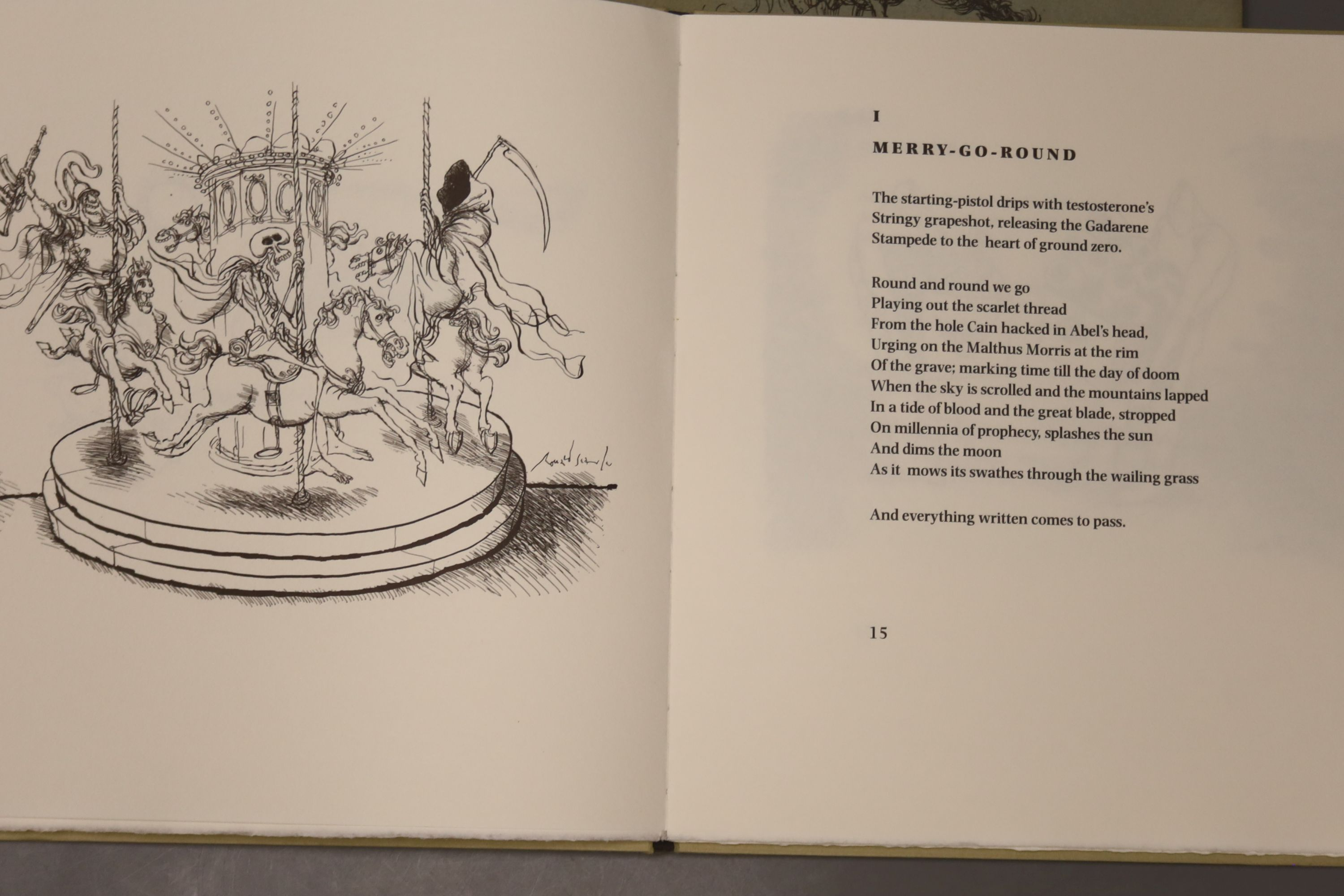 Rae, Simon & Searle, Roland, 'The Face of War', A signed limited edition numbered 103/294, - Image 5 of 10