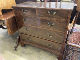 A George III mahogany chest, width 93cm, depth 44cm, height 92cm