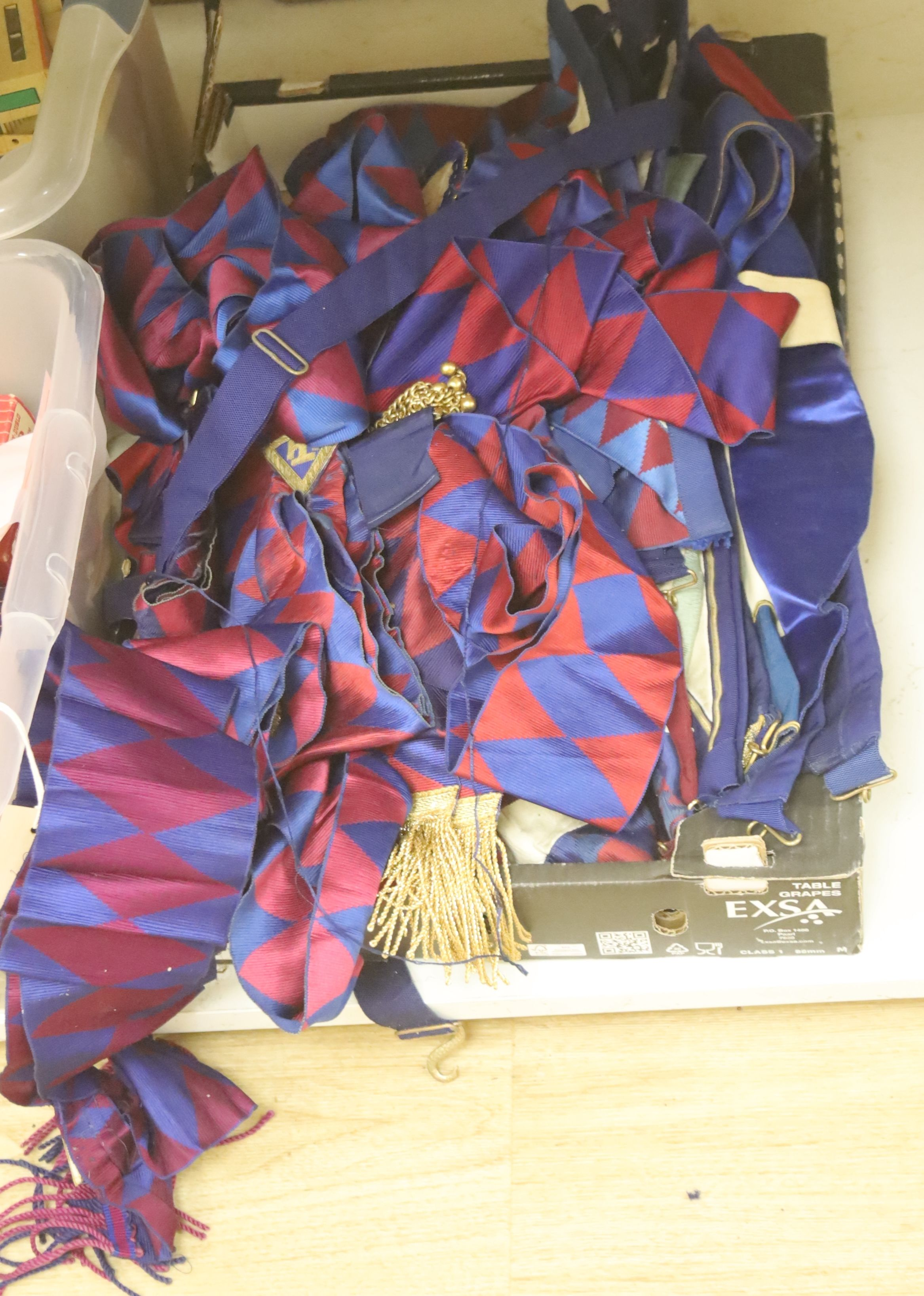 A large collection of Masonic aprons and sashes for London, etc. - Image 3 of 4