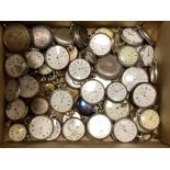 A collection of assorted mainly base metal but includes white metal pocket watches, stopwatches etc.