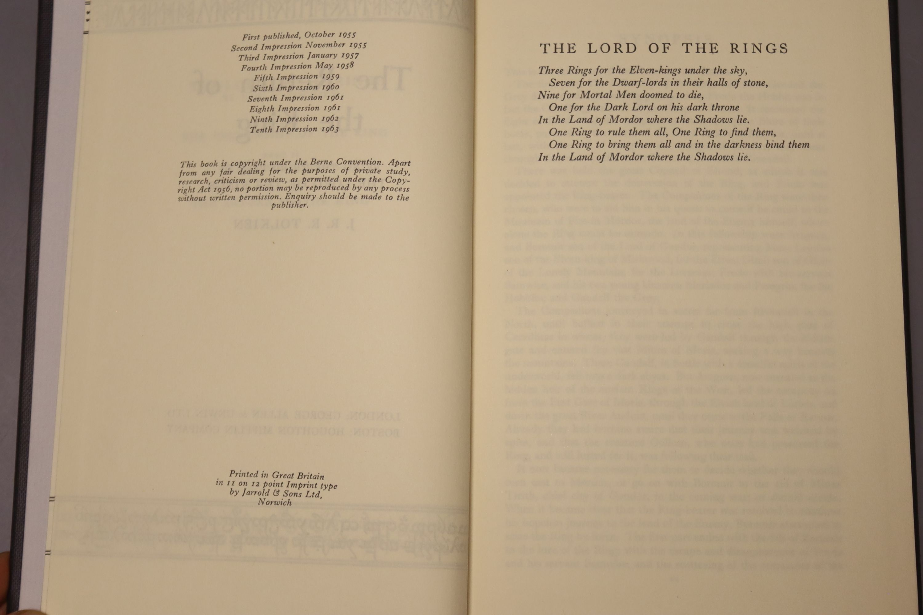 Tolkein, J.R.R. - The Fellowship of the Ring, The Two Towers, The Return of the King 1963, tenth and - Image 10 of 11
