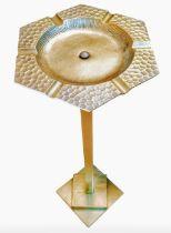 Seigel Paris. An Art Deco brass smoker's stand, height 69cm