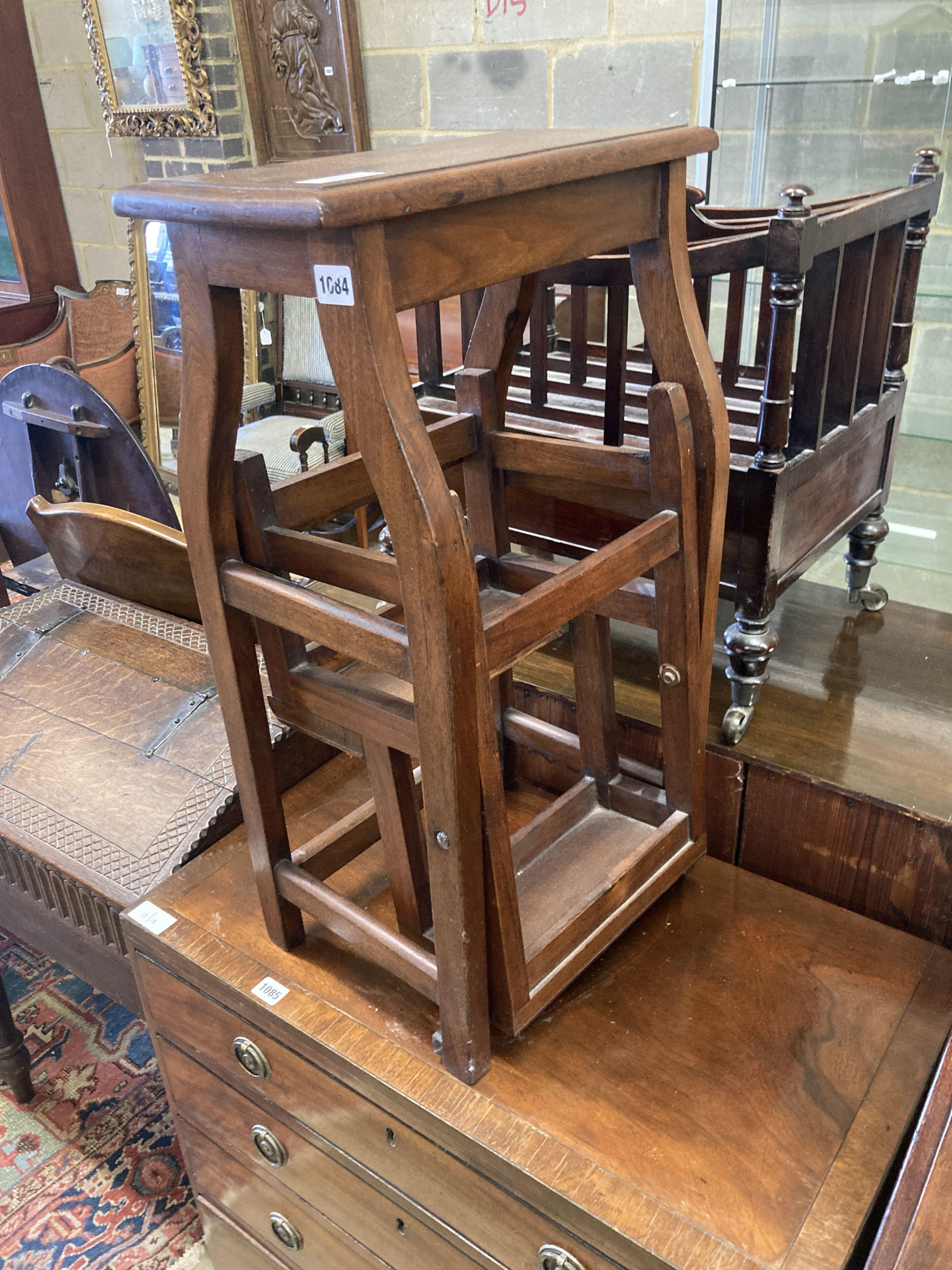 A mahogany metamorphic step/stool, width 42cm, depth 28cm, height 72cm - Image 3 of 4