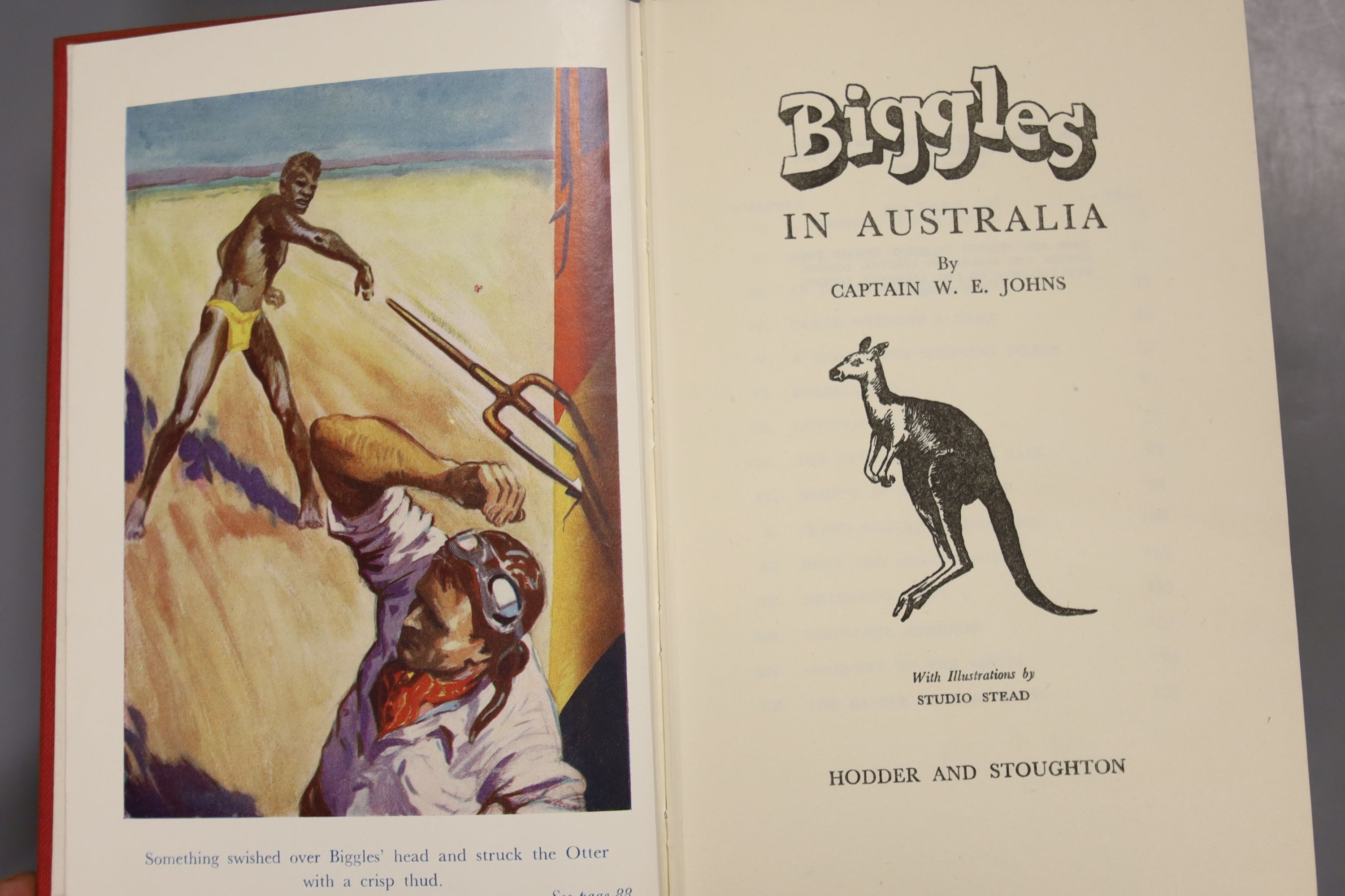 Johns, Capt W.W – Biggles In Australia, first edition, 16mo, hardback, (dj missing, spine sunned) - Image 2 of 10