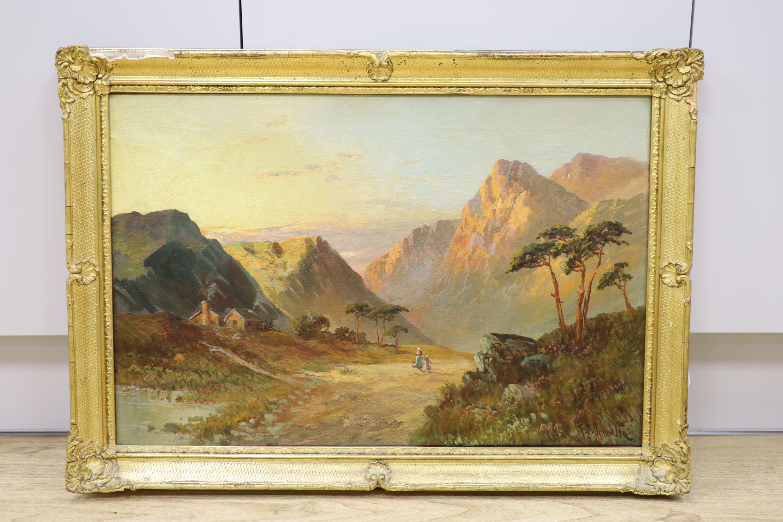 Francis E. Jamieson (1895-1950), oil on canvas, Glencoe, signed, 40 x 60cm - Image 2 of 3