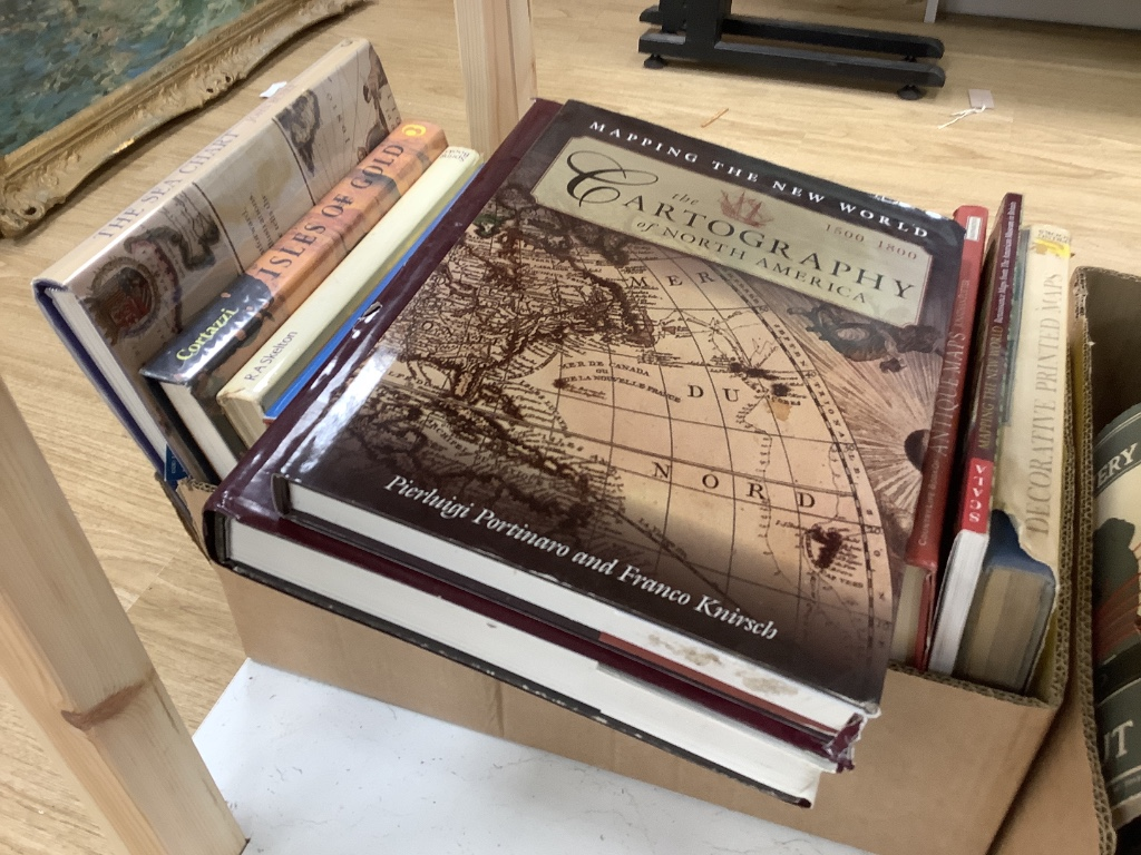 Map Reference Books, general and rest of world, approx. 17 vols