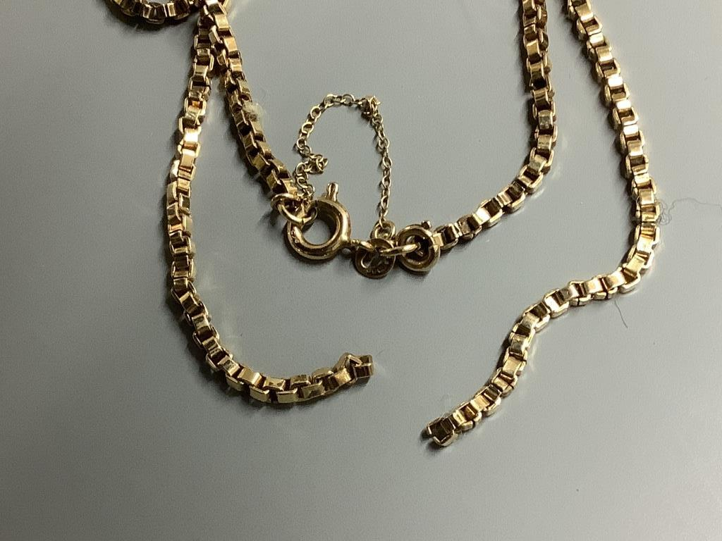 Two 9ct gold chain necklaces, 22.4g (one broken) - Image 3 of 3