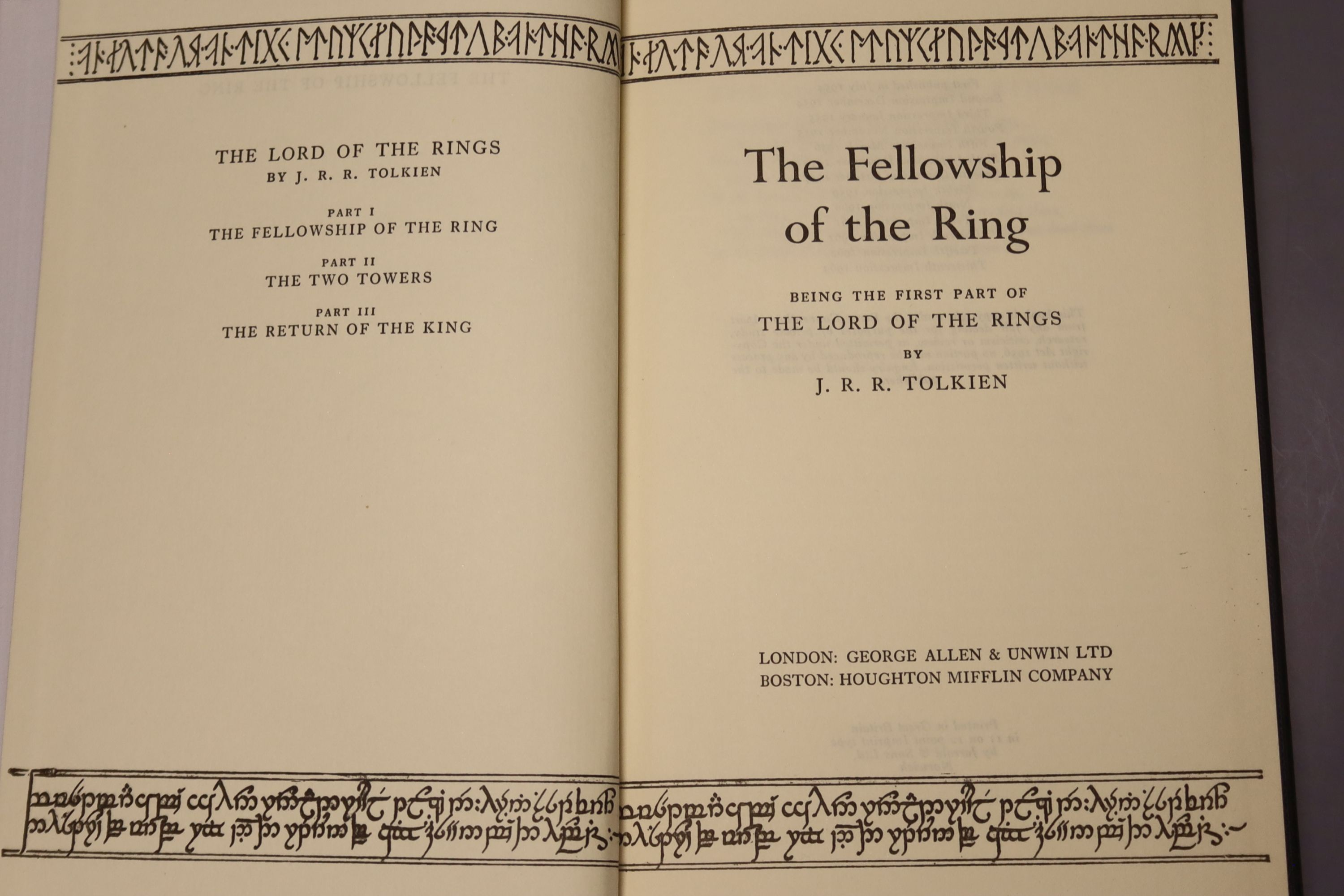 Tolkein, J.R.R. - The Fellowship of the Ring, The Two Towers, The Return of the King 1963, tenth and - Image 3 of 11