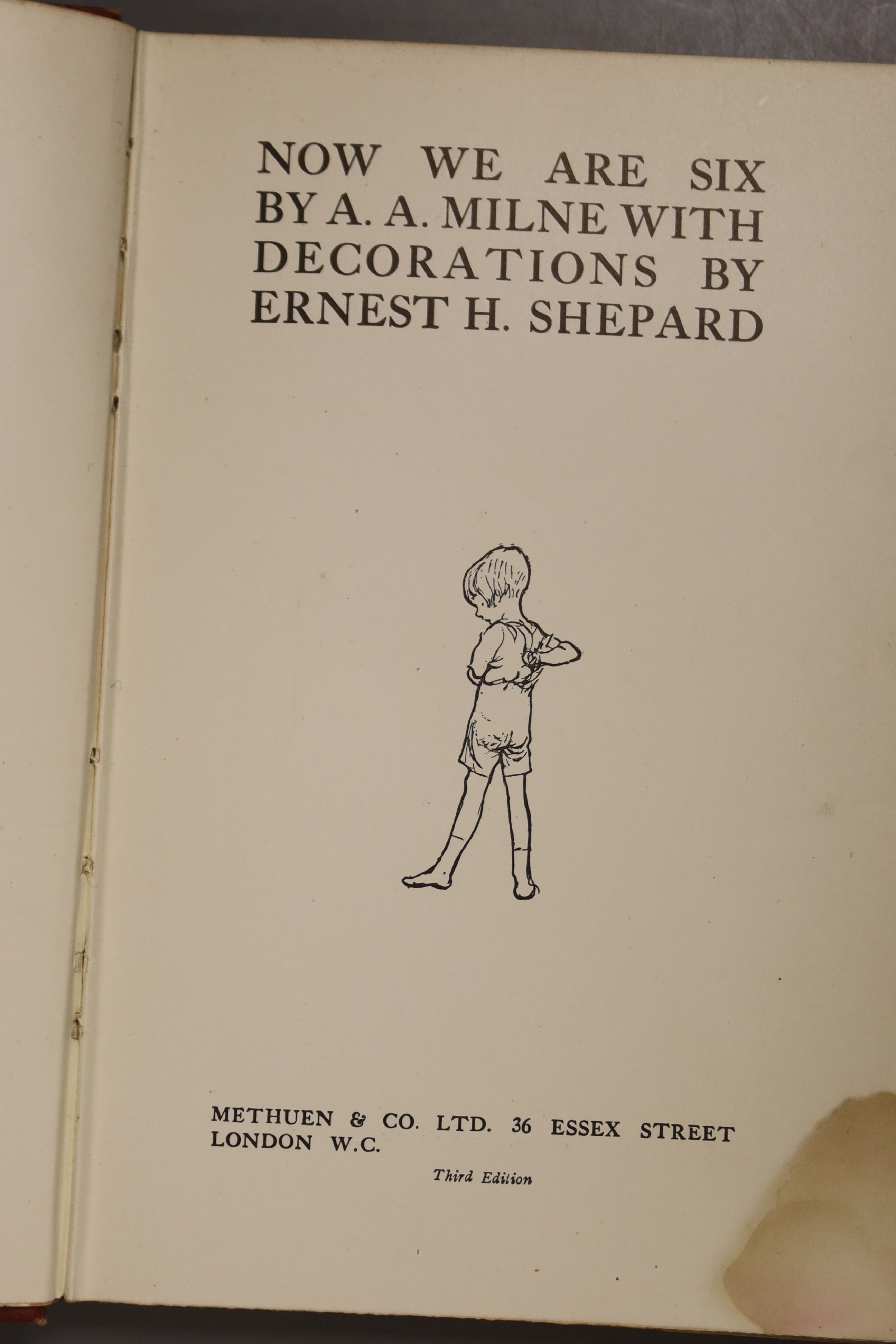 Milne, A.A – Winnie The Pooh, second edition, 8vo, cloth bound, (dj missing, inscribed, scuffs to - Image 9 of 10