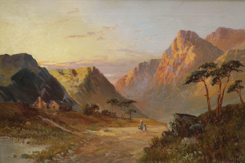Francis E. Jamieson (1895-1950), oil on canvas, Glencoe, signed, 40 x 60cm