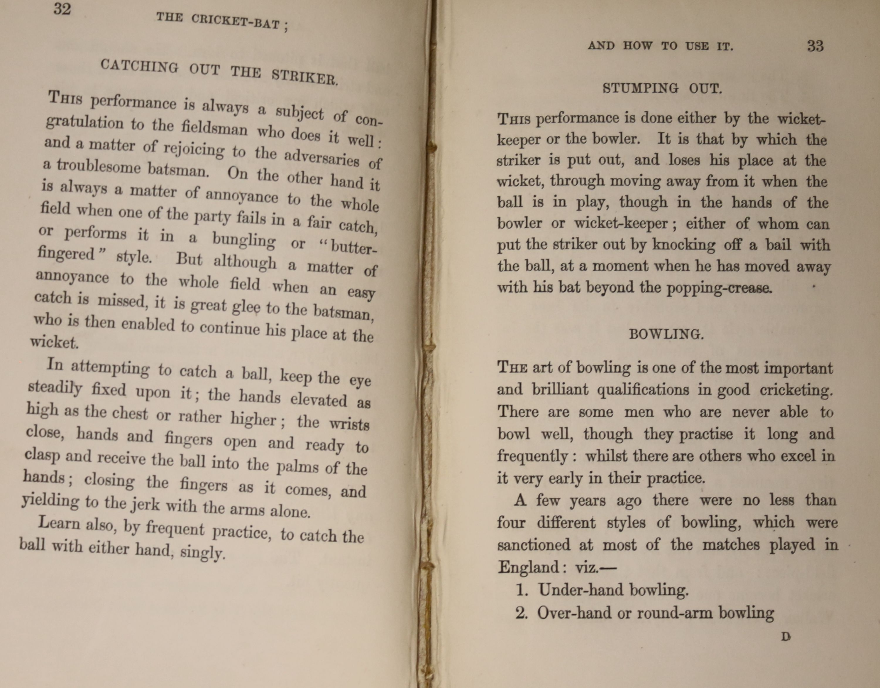 [Wanostrocht, Nicholas] - The Cricket-Bat; and How To Use It; a treatise on the game of cricket ..., - Image 5 of 5