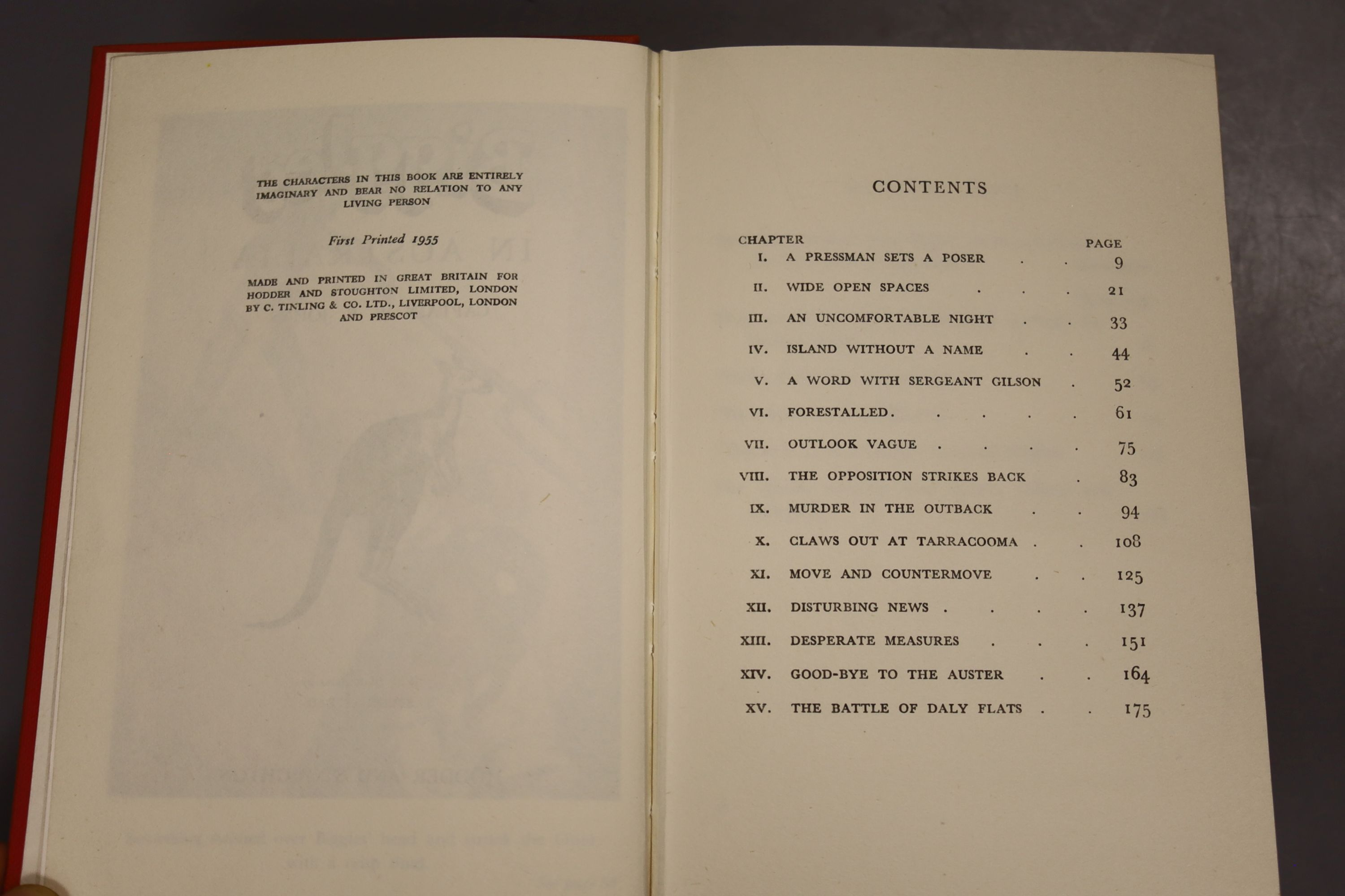 Johns, Capt W.W – Biggles In Australia, first edition, 16mo, hardback, (dj missing, spine sunned) - Image 3 of 10