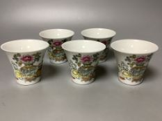 Five Chinese famille rose cups