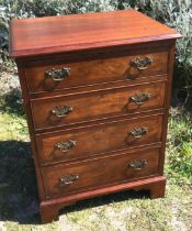 A small George III style mahogany chest, width 60cm, depth 46cm, height 78cm