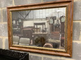 A Victorian style wall mirror, width 91cm height 65cm