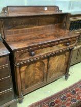 A Victorian mahogany chiffonier, width 104cm