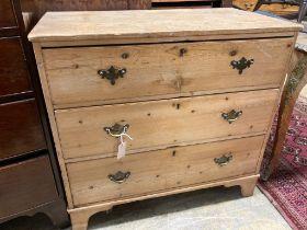 A Georgian pine chest of drawers, width 91cm depth 51cm height 85cm