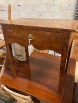 An 18th century walnut side table, width 71cm, depth 38cm, height 74cm