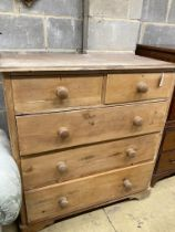 A Victorian pine chest of drawers, width 106cm, depth 53cm, height 112cm