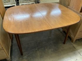 A G-Plan extending dining table, 188cm extended width 117cm height 73cm