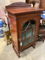 A mahogany cabinet stamped 'Admiral's day cabin 425', width 63cm, depth 42cm, height 115cm