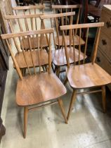 A set of six Ercol dining chairs