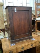 A Victorian stained pine ten drawer collector's chest, width 60cm, depth 37cm, height 82cm