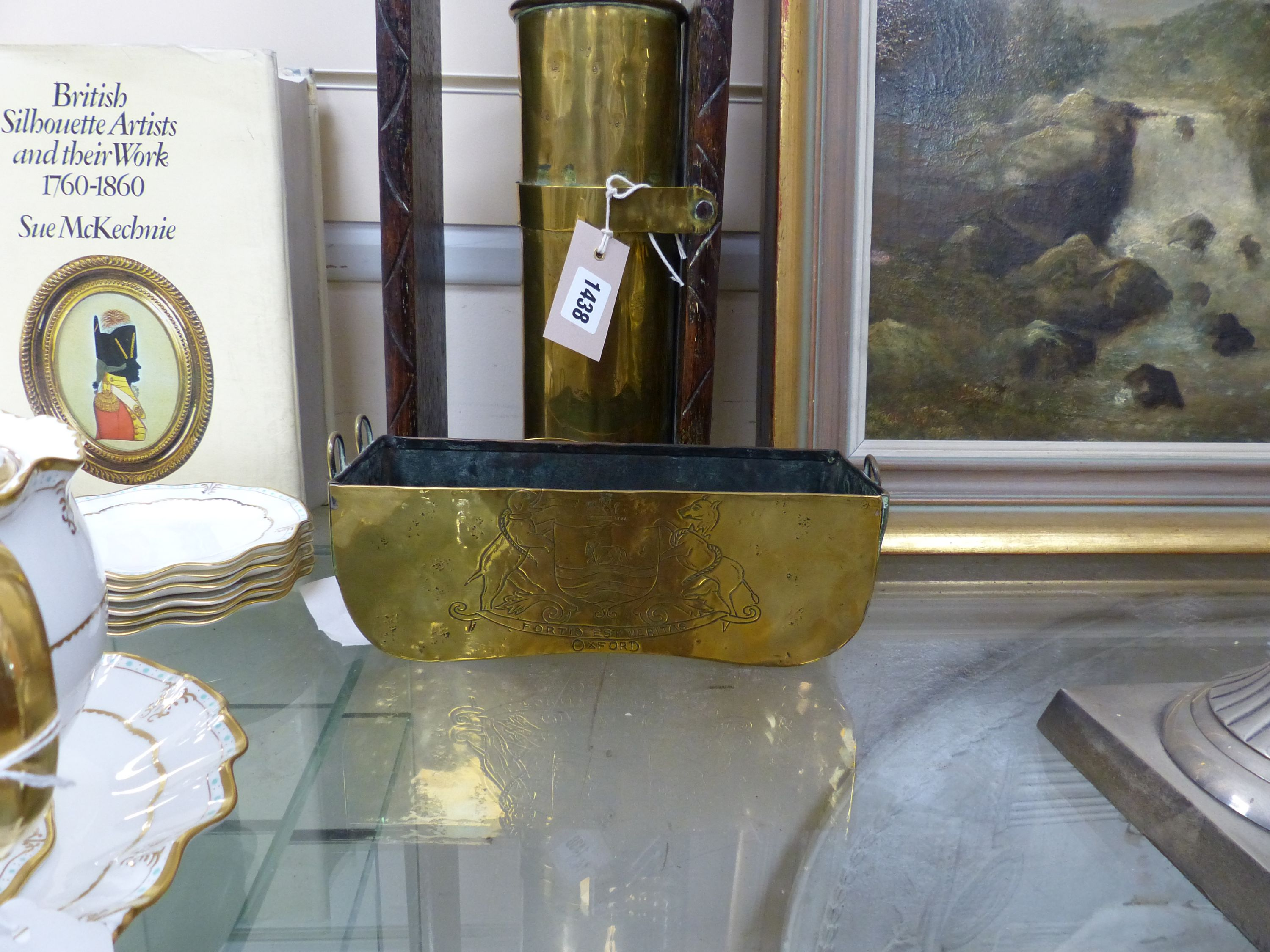 A 17th century style oak and brass 'Clepsydra' or water clock,having engraved chapter ring, water - Image 2 of 3