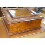 A large Polyphon walnut table top musical box, playing thirty 39.5cm discs