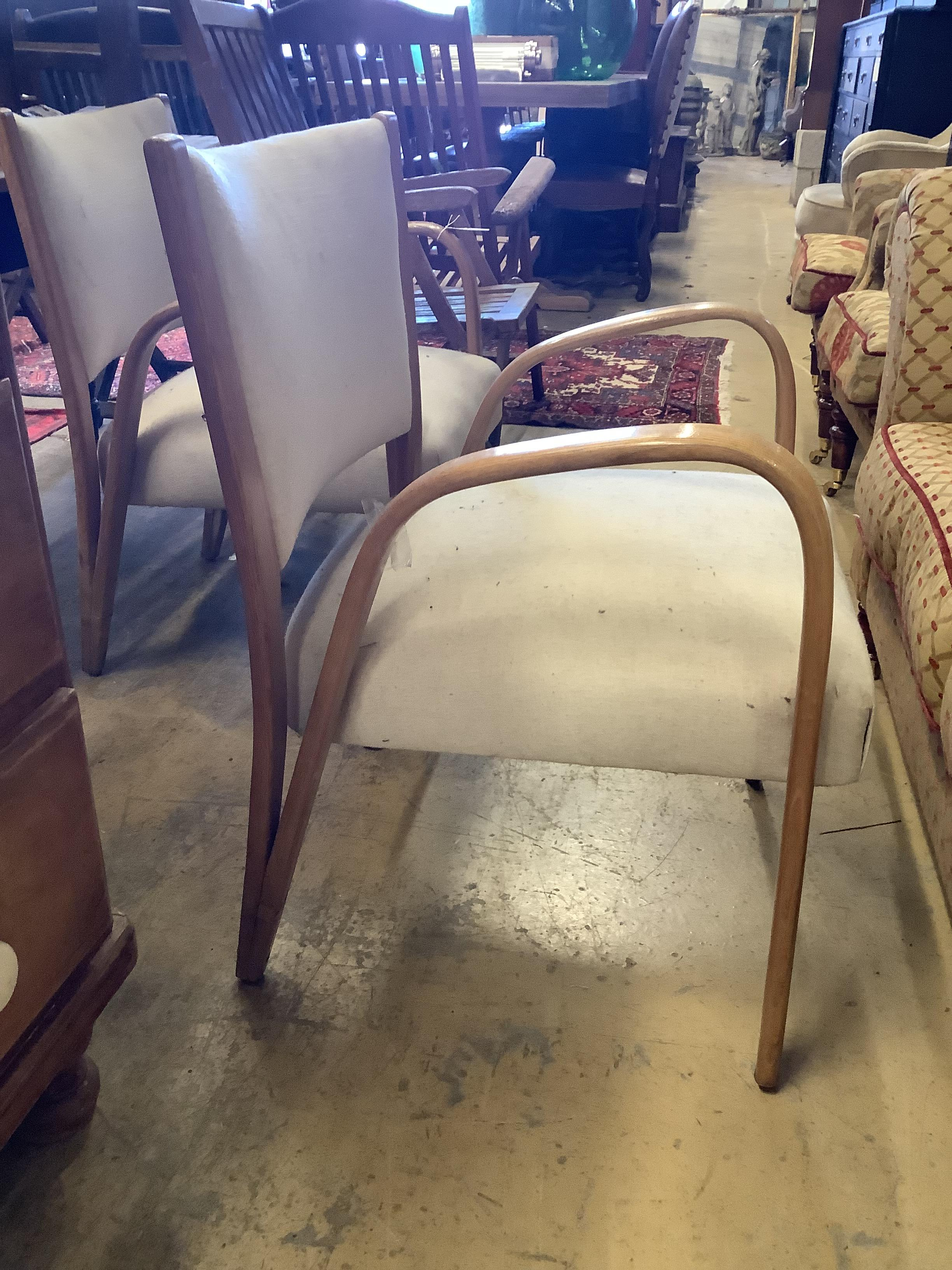 A pair of mid century elbow chairs - Image 2 of 4