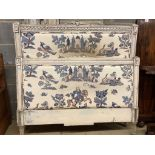 A painted French single bed frame, width 120cm