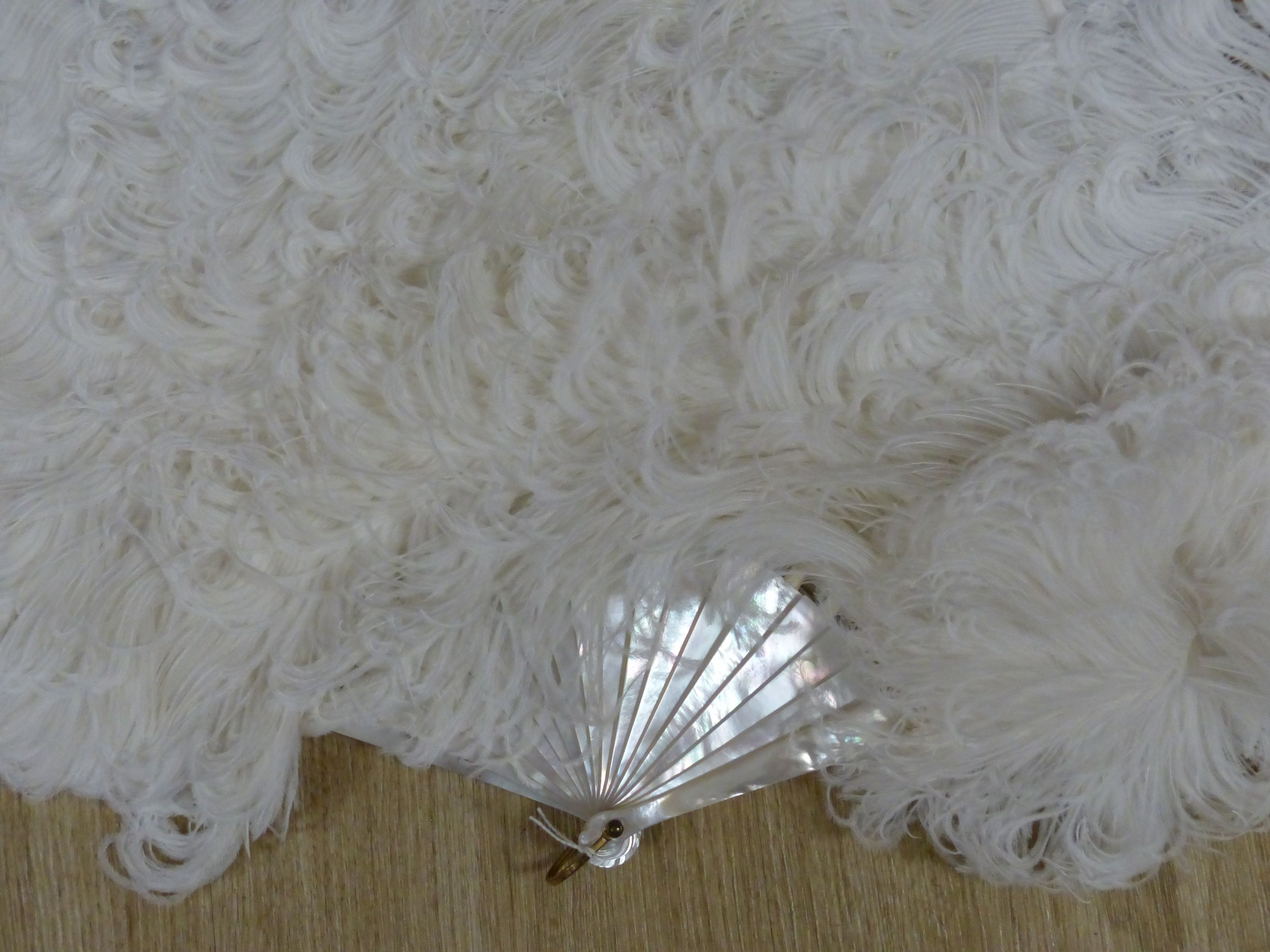A boxed Duvelleroy ostrich feather fan, early 20th century - Image 2 of 6