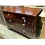 A George IV mahogany chest of drawers, width 109cm, depth 53cm, height 82cm